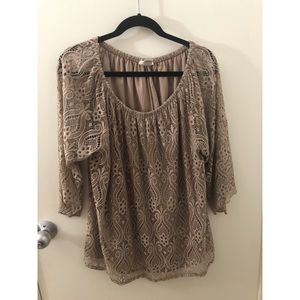 Size 2x Brittany Black blouse